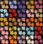 RICHARD PETTIBONE : ANDY WARHOL, 25 FLOWERS #4