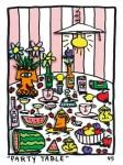 JAMES RIZZI : PARTY TABLE(BASIC), 1995, 20.5 x 14.5 cm, 3D SILKSCREEN