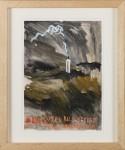 JORG IMMENDORFF : EIN GUTES BILD STELLT, 1979 / 1980, 29.5 x 20.9 cm, 11 3/5 x 8 1/4 in., gouche, graphite on paper
