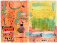 JOHN LURIE : BUCKET HELLO, 2006, 45.7 x 60.6 cm, 18 x 24 in., watercolor, oil pastel on paper