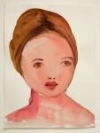 KIM McCARTY : GIRL, MAUVE BUN, 2002, 36.8 x 27.9 cm, 14 1/2 x 11 in., watercolor on paper