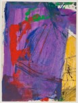 FRANZ KLINE : UNTITLED(COLOR ABSTRACTION), 1958, 29.8 x 23.2 cm, 11 3/4 x 9 1/8 in., oil on paper