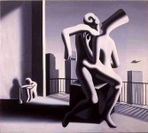 MARK KOSTABI : TUMULT ON THE MOUNTAIN TOP, 1989, 122 x 137 cm, oil on canvas