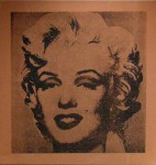 MIKE BIDLO : NOT WARHOL (MARILYN), 1984, 56.5 x 54 cm, 22 1/4 x 21 1/4 in., synthetic polymer paint and silkscreen inks on canvas