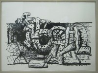 PHILIP GUSTON : ELEMENTS (GEMINI 871), 1980, ED38/50, 83.2 x 108 cm, 32 3/4 x 42 1/2 in.,lithograph