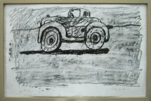 PHILIP GUSTON : CAR (GEMINI 875) , 1980, ED 38/50, 50.8 x 76.2 cm, 20 x 30 in., lithograph