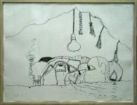 PHILIP GUSTON : CURTAIN (GEMINI 926), 1980, ED18/50, 77.5 x 102.9 cm, 30 1/2 x 40 1/2 in., lithograph