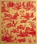 SARAH CHARLESWORTH : TOILE (RED VERSION), 2004, ED4/8, 106.7 x 89.2 cm, 42 x 35 1/8 in., fuji crystal archive print with lacquer frame